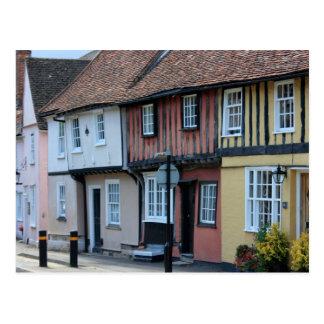 Coloured houses at Saffron Walden, Essex, UK Postcard
