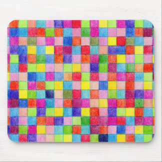 Coloured In Graph Paper Squares Mouse Pad