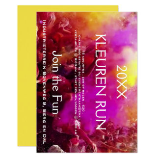 Coloured invitation for colours 5K