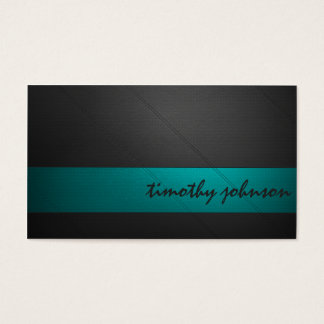 Coloured Leather in Teal Business Card