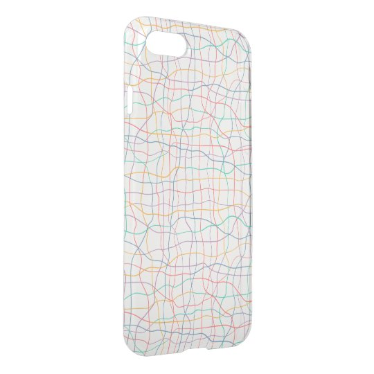 Coloured Lines Pattern iPhone 7 Deflector Case