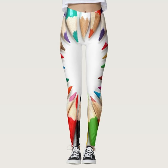 Coloured Pencil Fun! Leggings