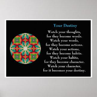 Coloured Pencil - Kaleidoscopic Destiny Poster