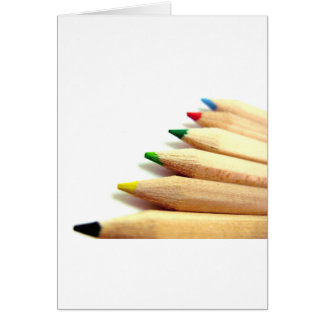 coloured pencils Artist Illustrator Card