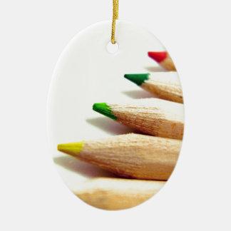 coloured pencils Artist Illustrator Ceramic Oval Ornament