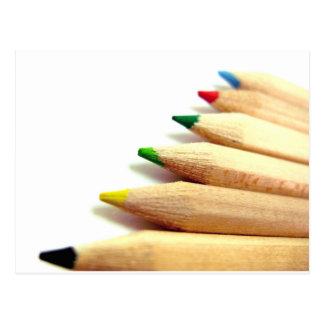 coloured pencils Artist Illustrator Postcard