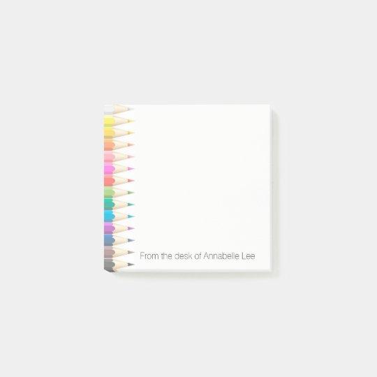 Coloured Pencils Light Post-it Notes