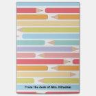 Coloured Pencils Personalized Teacher Appreciation Post-it Notes