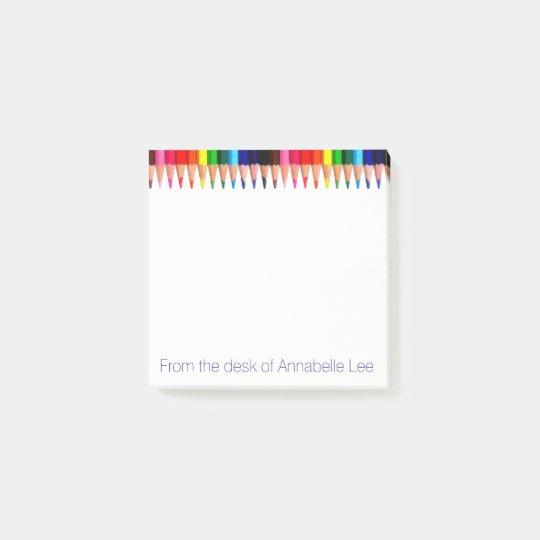 Coloured Pencils Post-it Notes