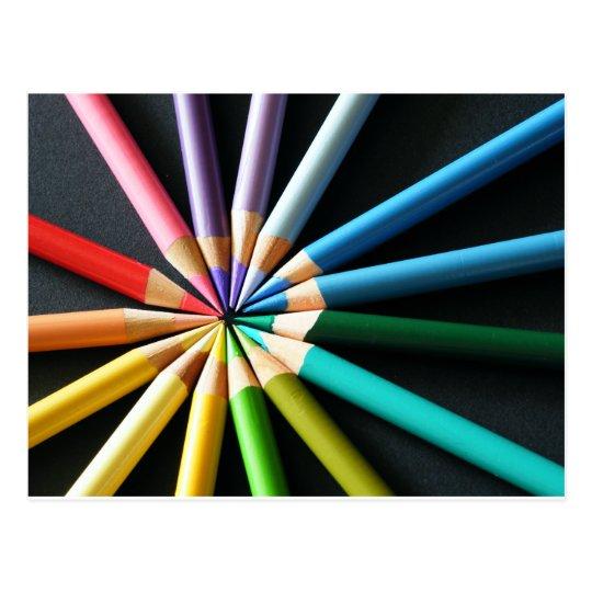 Coloured Pencils - Postcard