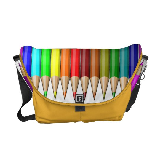 Coloured Pencils Rainbow of Art Supplies Courier Bags