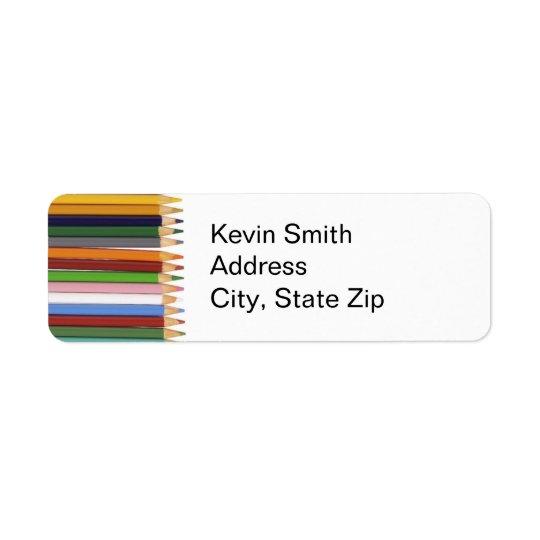 Coloured Pencils Return Address Labels