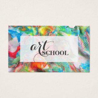 Coloured Plasticine Art School - Art Teacher Card