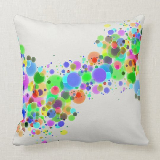 Coloured spheres throw pillow
