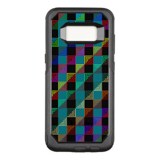 Coloured squares half-and-half OtterBox commuter samsung galaxy s8 case