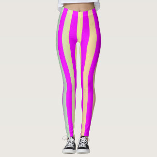 Coloured striped pattern leggings