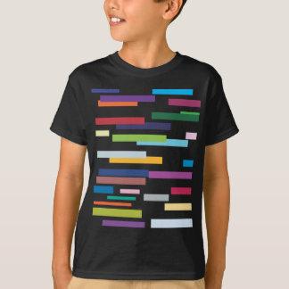 Coloured Stripes Kids Black Tee Shirt