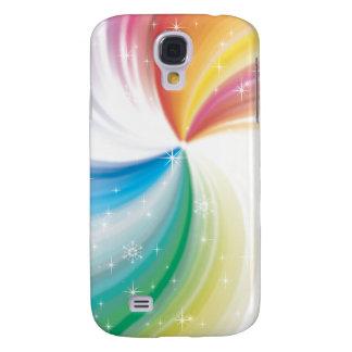 Coloured swirl galaxy s4 cover