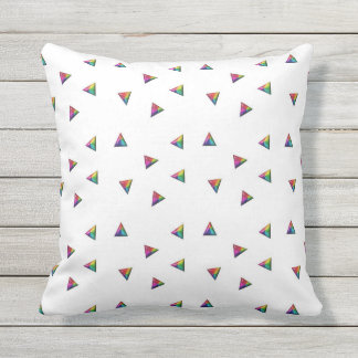 Coloured Triangles Outdoor Pillow