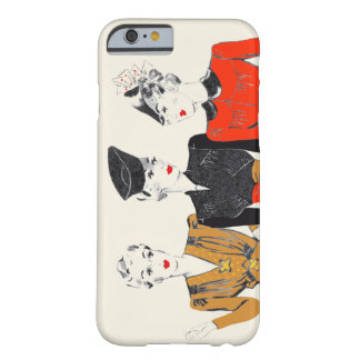 Coloured vintage art print of 3 classic ladies barely there iPhone 6 case