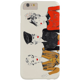 Coloured vintage art print of 3 classic ladies barely there iPhone 6 plus case