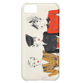 Coloured vintage art print of 3 classic ladies cover for iPhone 5C