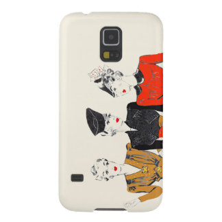 Coloured vintage art print of 3 classic ladies galaxy s5 cover