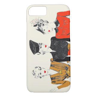 Coloured vintage art print of 3 classic ladies iPhone 8/7 case