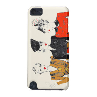Coloured vintage art print of 3 classic ladies iPod touch (5th generation) covers