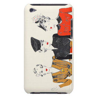Coloured vintage art print of 3 classic ladies iPod touch covers