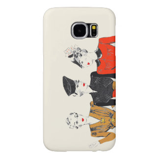 Coloured vintage art print of 3 classic ladies samsung galaxy s6 cases