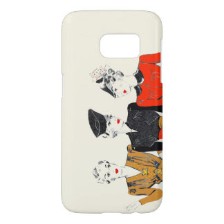 Coloured vintage art print of 3 classic ladies samsung galaxy s7 case