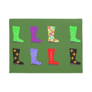 Coloured Wellies Doormat