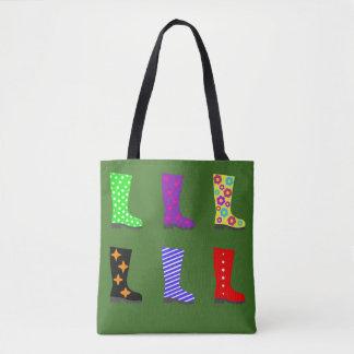 Coloured Wellies Tote Bag