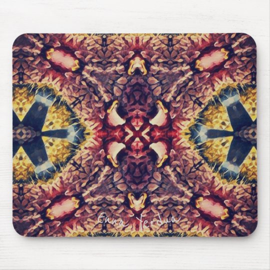 Coloured woollen article mouse pad