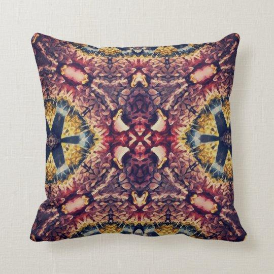 Coloured woollen article throw pillow