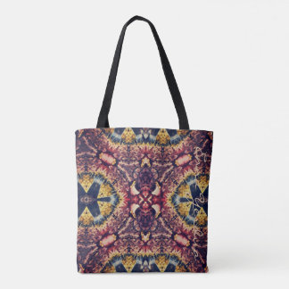 Coloured woollen article tote bag
