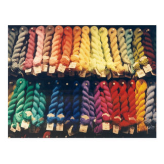 COLOURED YARNS LIBERTY POSTCARD