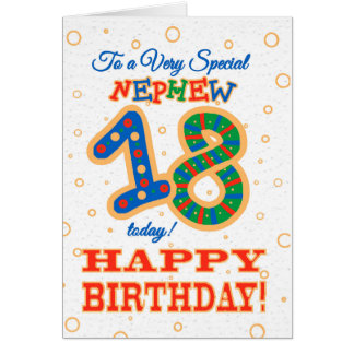 Colourful 18th Birthday for Special Nephew Card
