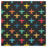 Colourful A-10 Warthog Attack Jet Pattern Fabric