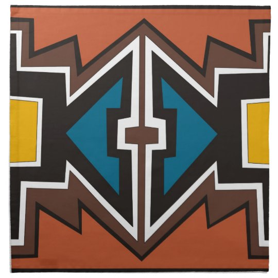 Colourful abstract African art Printed Napkin