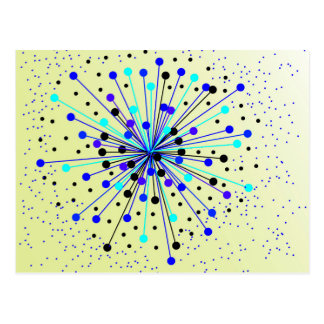 Colourful Abstract Background Postcard