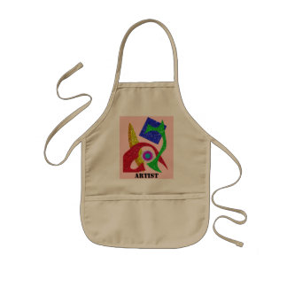 Colourful Abstract  Design Kids Apron