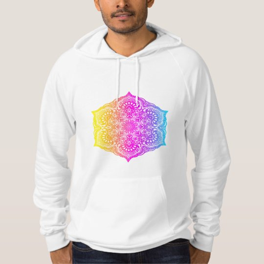 Colourful abstract ethnic floral mandala design hoodie