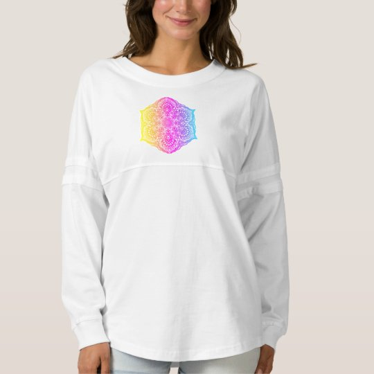 Colourful abstract ethnic floral mandala design spirit jersey