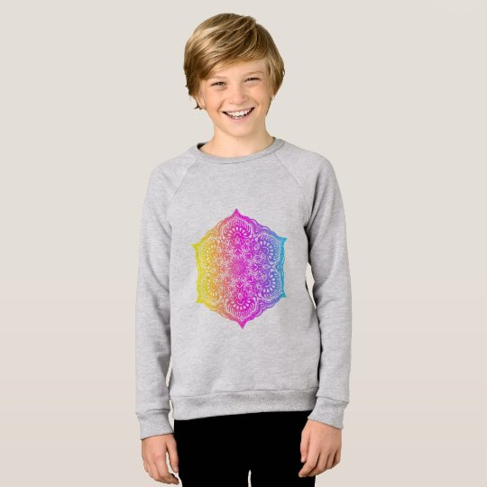 Colourful abstract ethnic floral mandala design sweatshirt