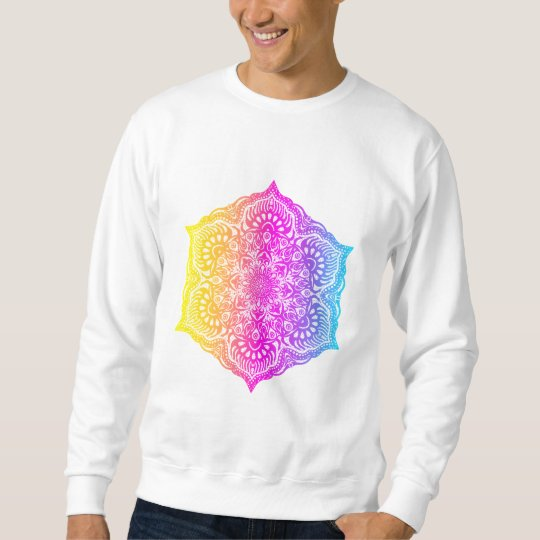 Colourful abstract ethnic floral mandala design sweatshirt