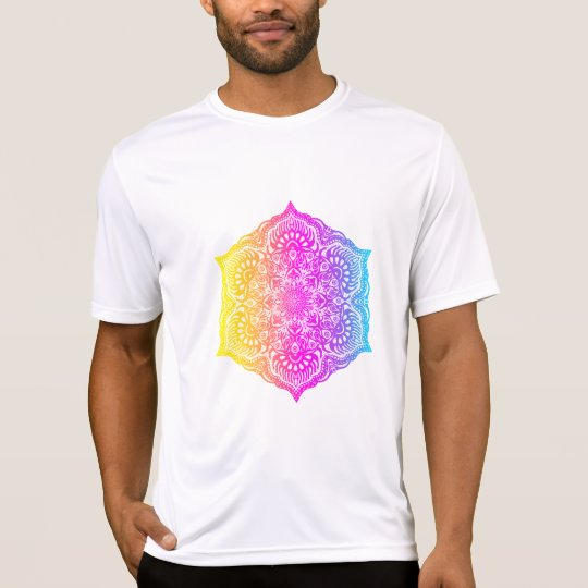Colourful abstract ethnic floral mandala design T-Shirt