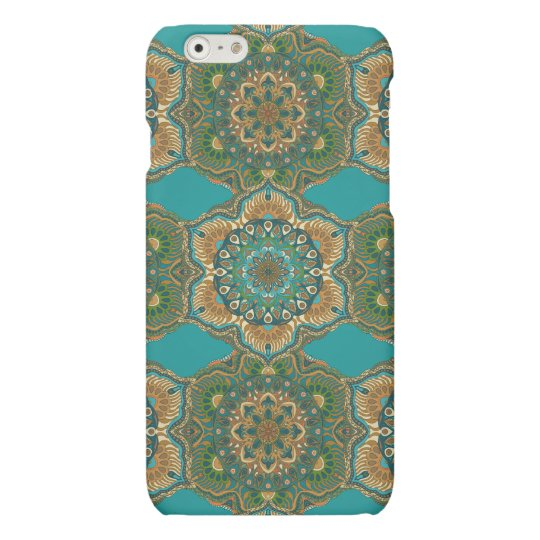 Colourful abstract ethnic floral mandala pattern
