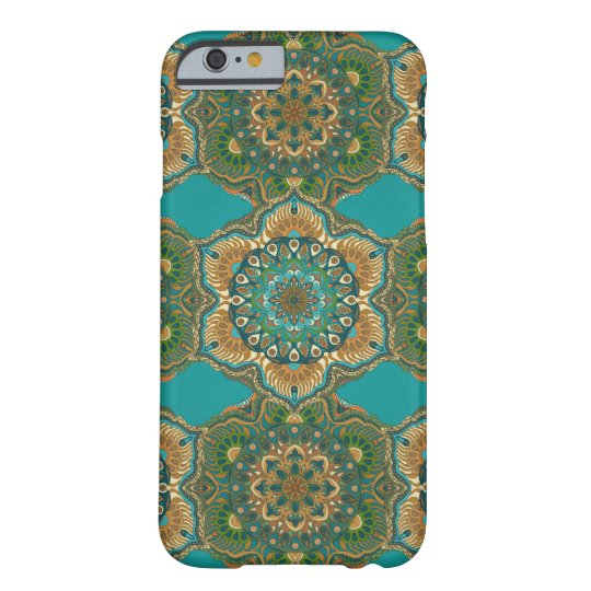 Colourful abstract ethnic floral mandala pattern barely there iPhone 6 case